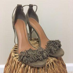 Wild diva lounge fringe lace up heel